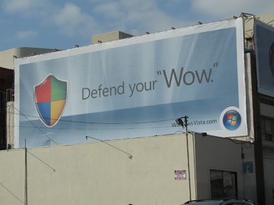 Defend Your Wow Windows Vista ad campaign